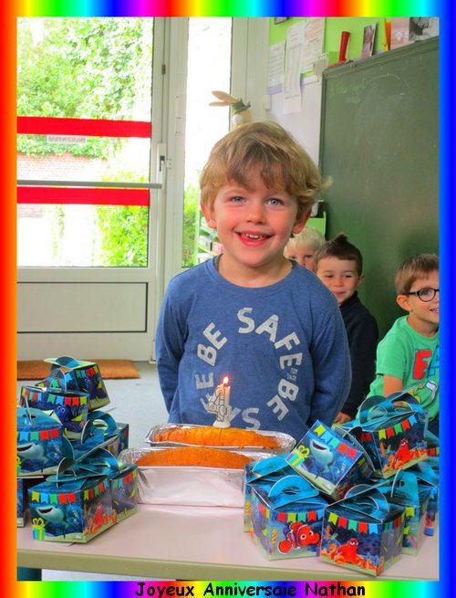 Joyeux Anniversaire Nathan Ecole Maternelle Jean Mace Hazebrouck