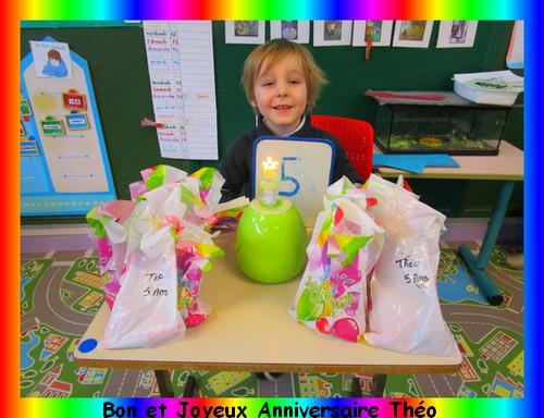 Joyeux Anniversaire Theo Ecole Maternelle Jean Mace Hazebrouck