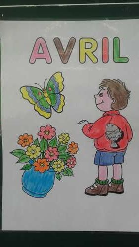 Coloriage Avril Ms.Poisson D Avril Ps Ms Ecole Maternelle Jean Mace Hazebrouck